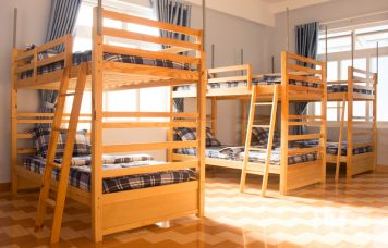 Blue guest house's dormitory in Dak Nong