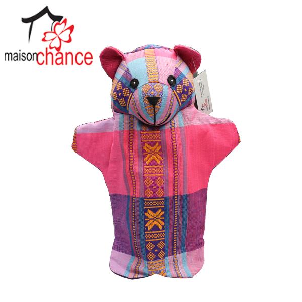 Con rối hình con Gấu vải thổ cẩm